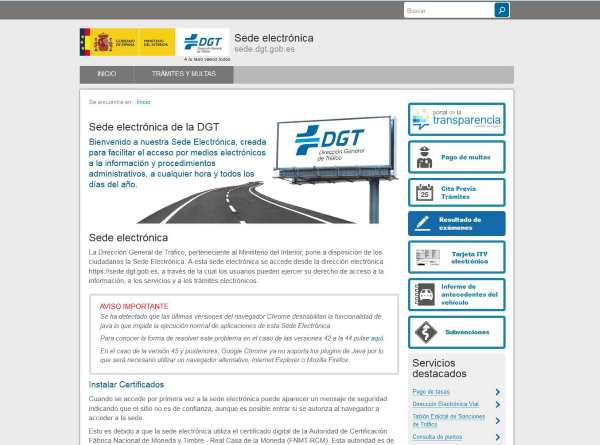 Sede electronica dgt test